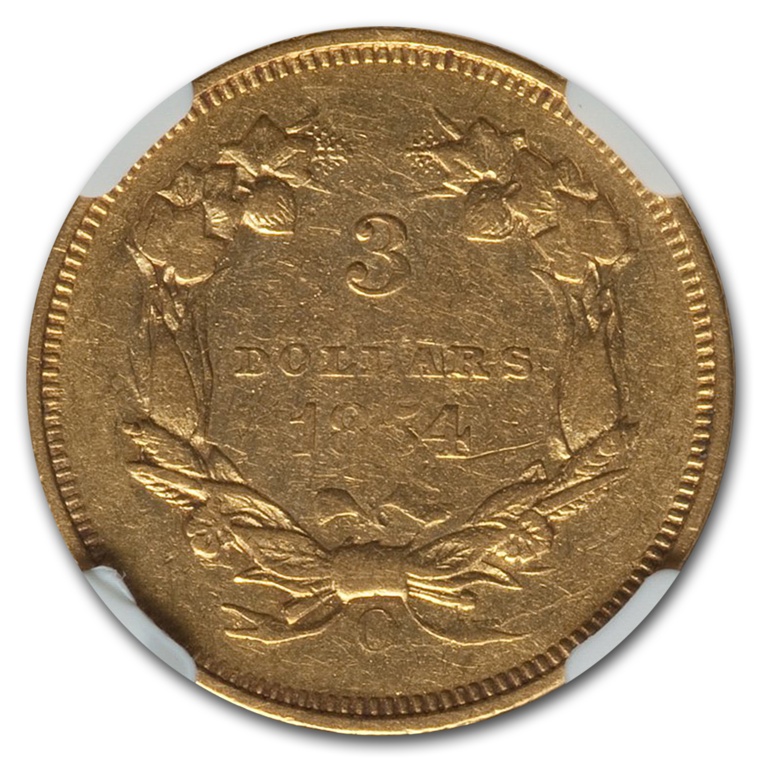 1854-O $3 Gold Princess AU-50 NGC